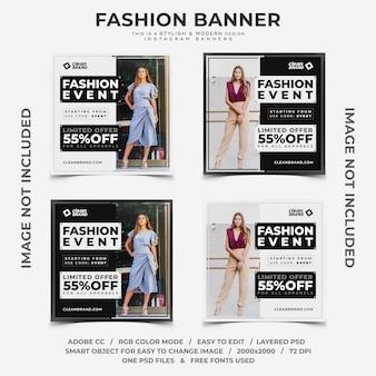 Événement de mode réduit les bannières instagram