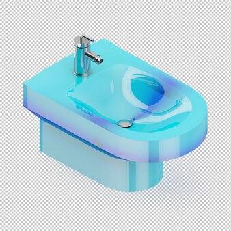 Évier bleu isométrique