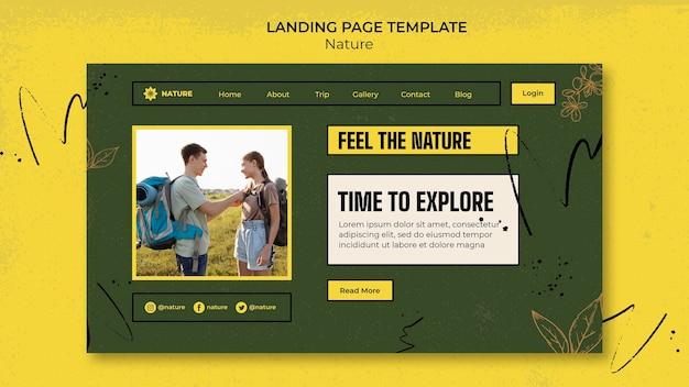 Explorer le modèle de page de destination de la nature