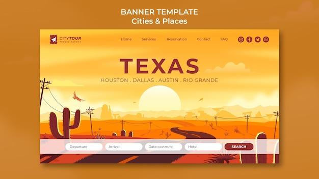 Explorez la bannière horizontale du texas