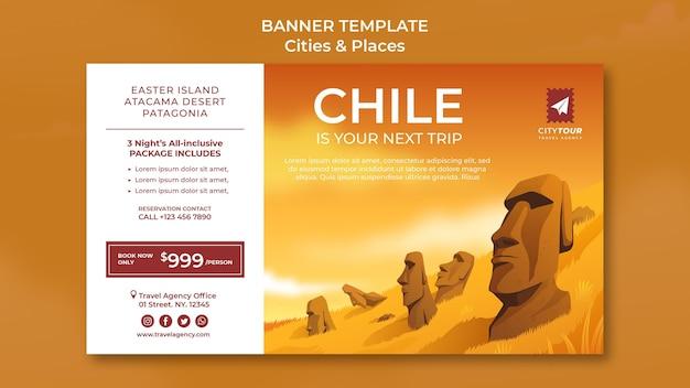 Explorez le modèle de bannière du chili