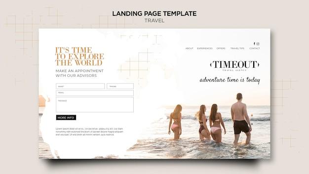 Explorez le modèle de page de destination du monde
