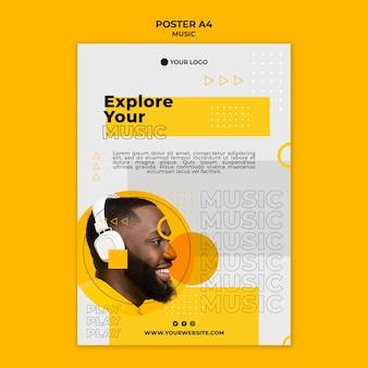 Explorez votre modèle d'affiche de musique