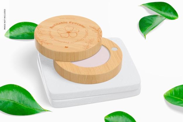 Eyecolor rechargeable sur la maquette de surface