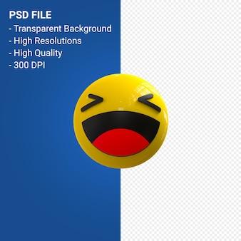 Facebook 3d réactions emoji amusant isolé