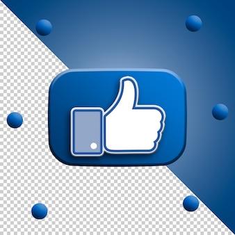 Facebook comme rendu 3d isolé