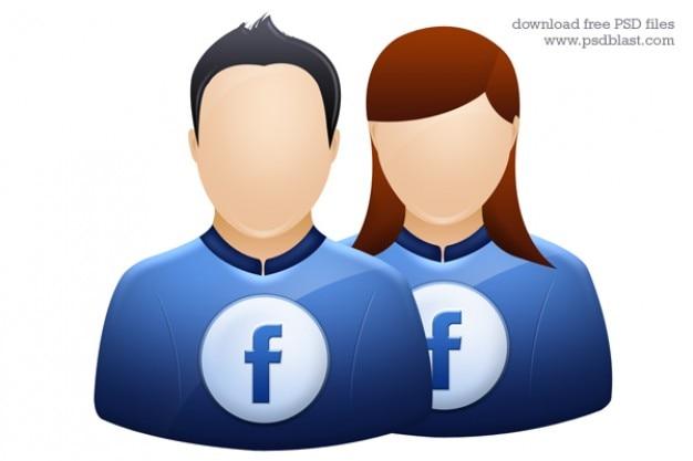 Facebook twitter user icon avatar graphique deviantart profil icône psd