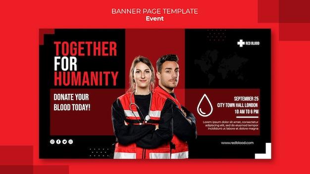 Faire un don de bannière horizontale de sang
