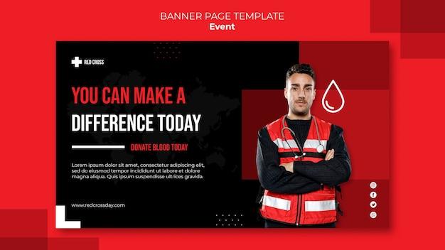 Faire un don de modèle de bannière de sang