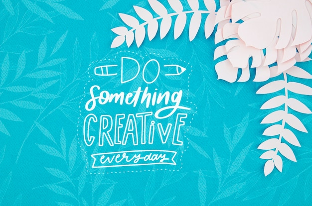 Faire quelque chose de fond de plantes de papier créatif