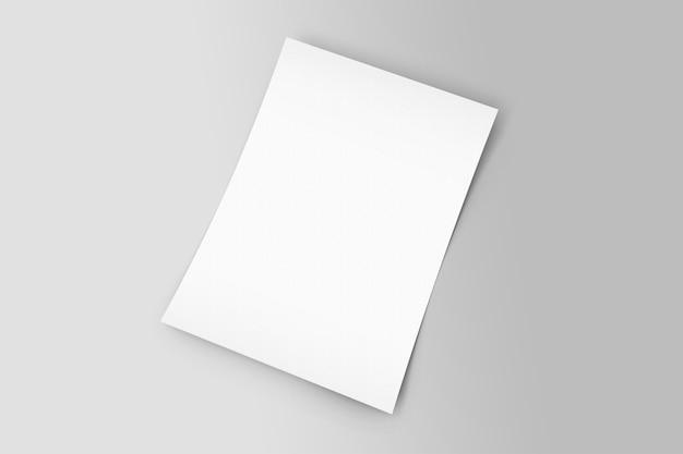 Faites face à un prototype d'affiche de flyer a4