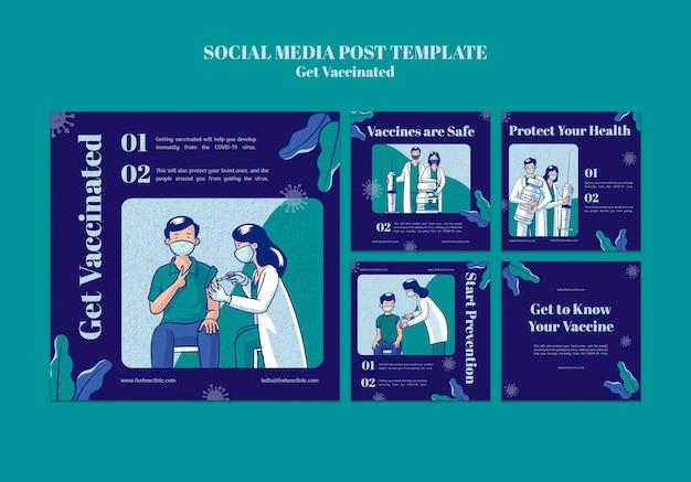Faites-vous vacciner dans les articles d'histoires instagram