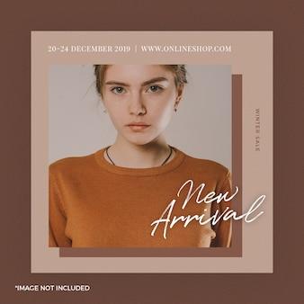 Fashion instagram post bannière
