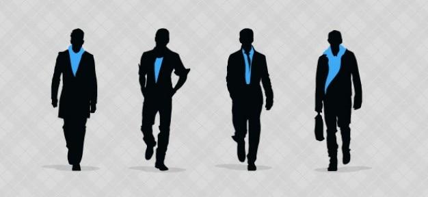 Fashion men silhouettes mis en