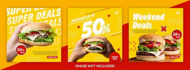 Fast food sale bundle social media post