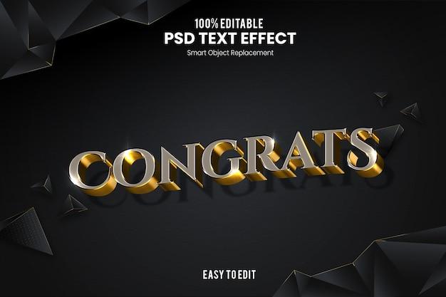 Félicitations effet de texte