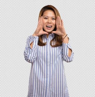 Femme chinoise criant