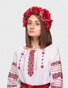 Femme en costume national ukrainien