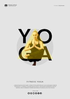 Femme en yoga pose méditation