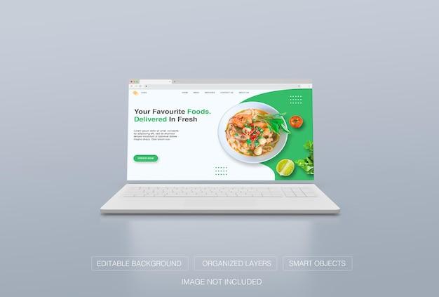 Fenêtre du navigateur internet pour la maquette de la page de destination
