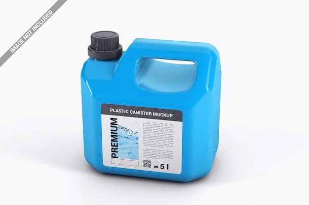 Fermer un gallon en plastique avec maquette d'autocollant