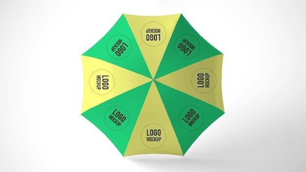 Fermer u pon ouvert maquette de parapluie isolé