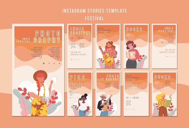 Festival de modèles d'histoires instagram