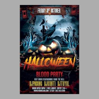 Fête du sang d'halloween