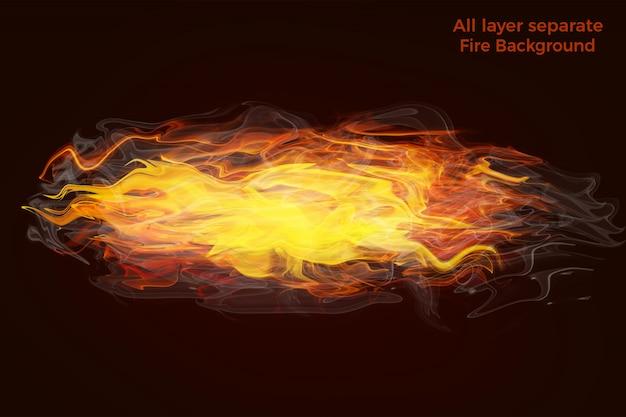 Feu flammes fond de haute qualité