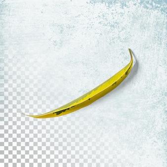 Feuille jaune fraîche isolée sur transparent