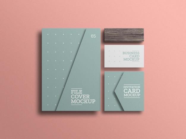 Fichier minimal avec maquette de carte d'invitation