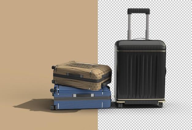 Fichier psd transparent de valise en polycarbonate.
