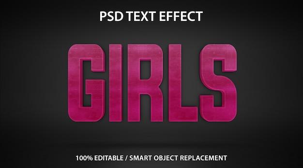 Filles à effet de texte modifiables