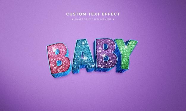 Film d'animation glitter style de texte 3d