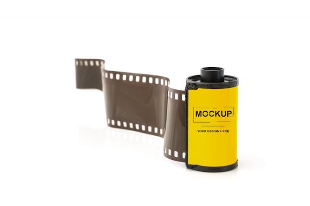 Film photo en maquette de cartouche