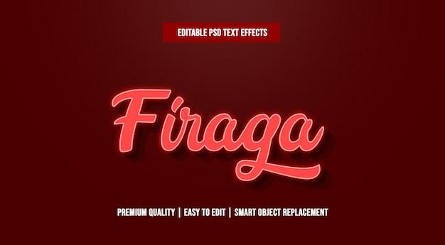 Firaga text effect premium psd
