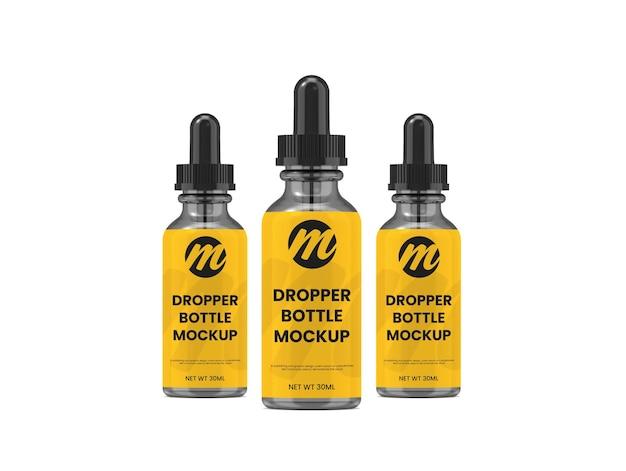 Flacon compte-gouttes premium ou maquette de bouteille d'huile essentielle