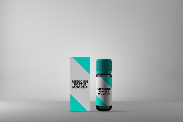 Flacon de médicament et maquette de boîte