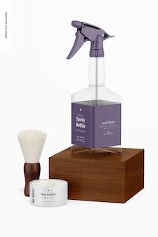 Flacon pulvérisateur en plastique avec maquette de brosse duster