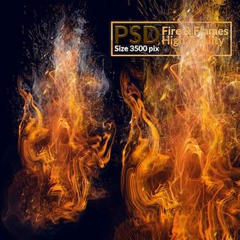 Flammes haute qualité