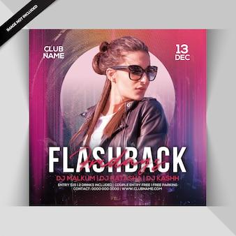Flashback party flyer du vendredi soir