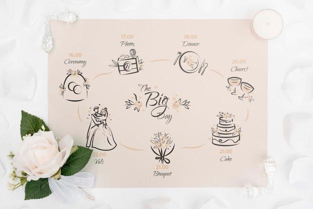 Fleur et carte de voeux