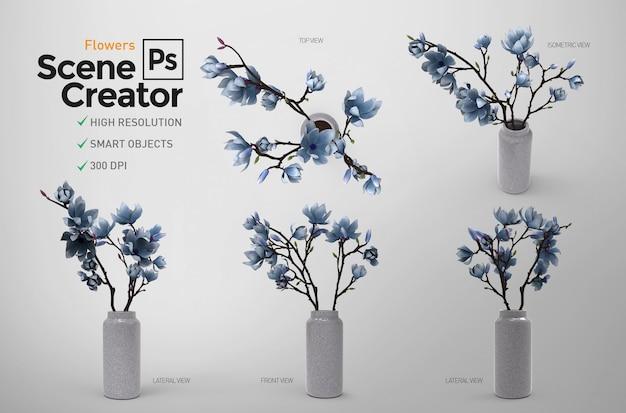Fleurs. créateur de scène. 3d