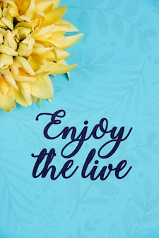 Fleurs en fleurs à côté d'un message positif