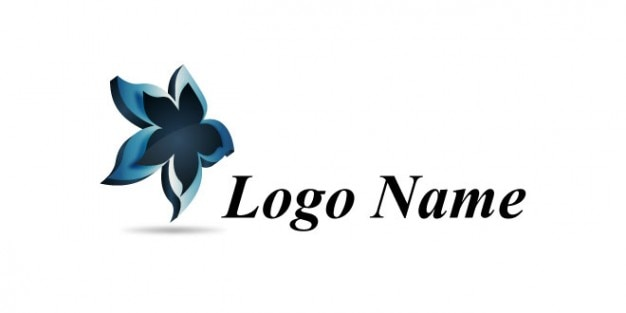 Floral étoiles nom de logo