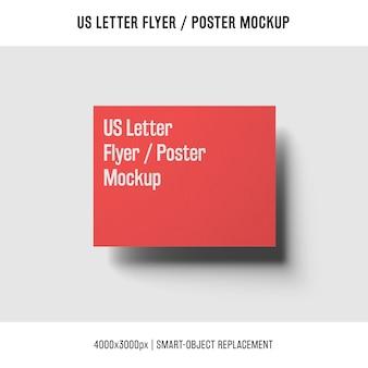 Flottant nous lettre flyer ou affiche maquette