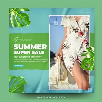 Flux de publication instagram de mode des soldes d'été