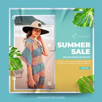 Flux de publication instagram de vente de mode de couleur pastel