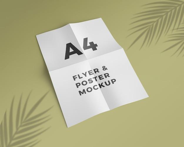Flyer a4 et maquette d'affiche