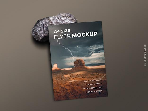 Flyer ou brochure ou maquette de dépliant d'une seule page